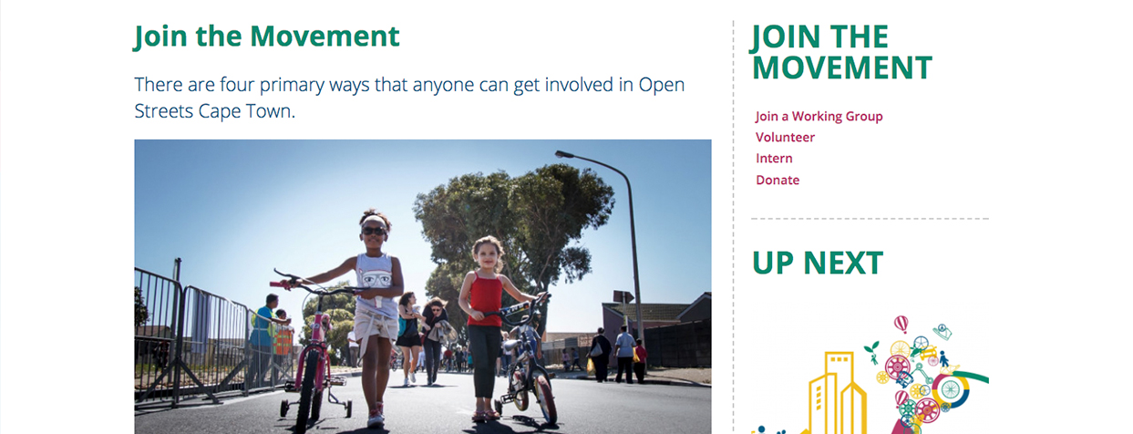 OpenStreets «Join the Movement»