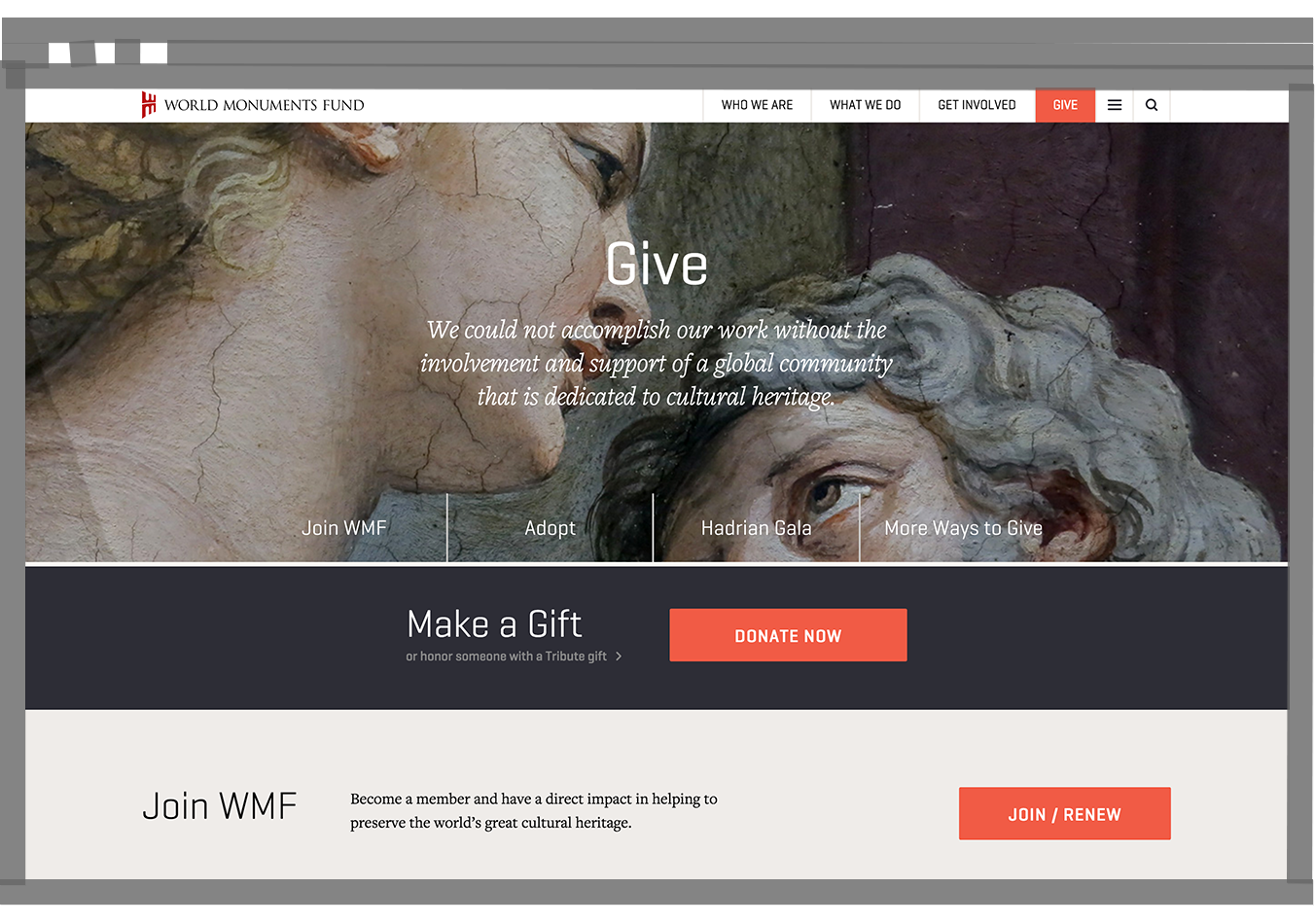 WMF Give page on desktop