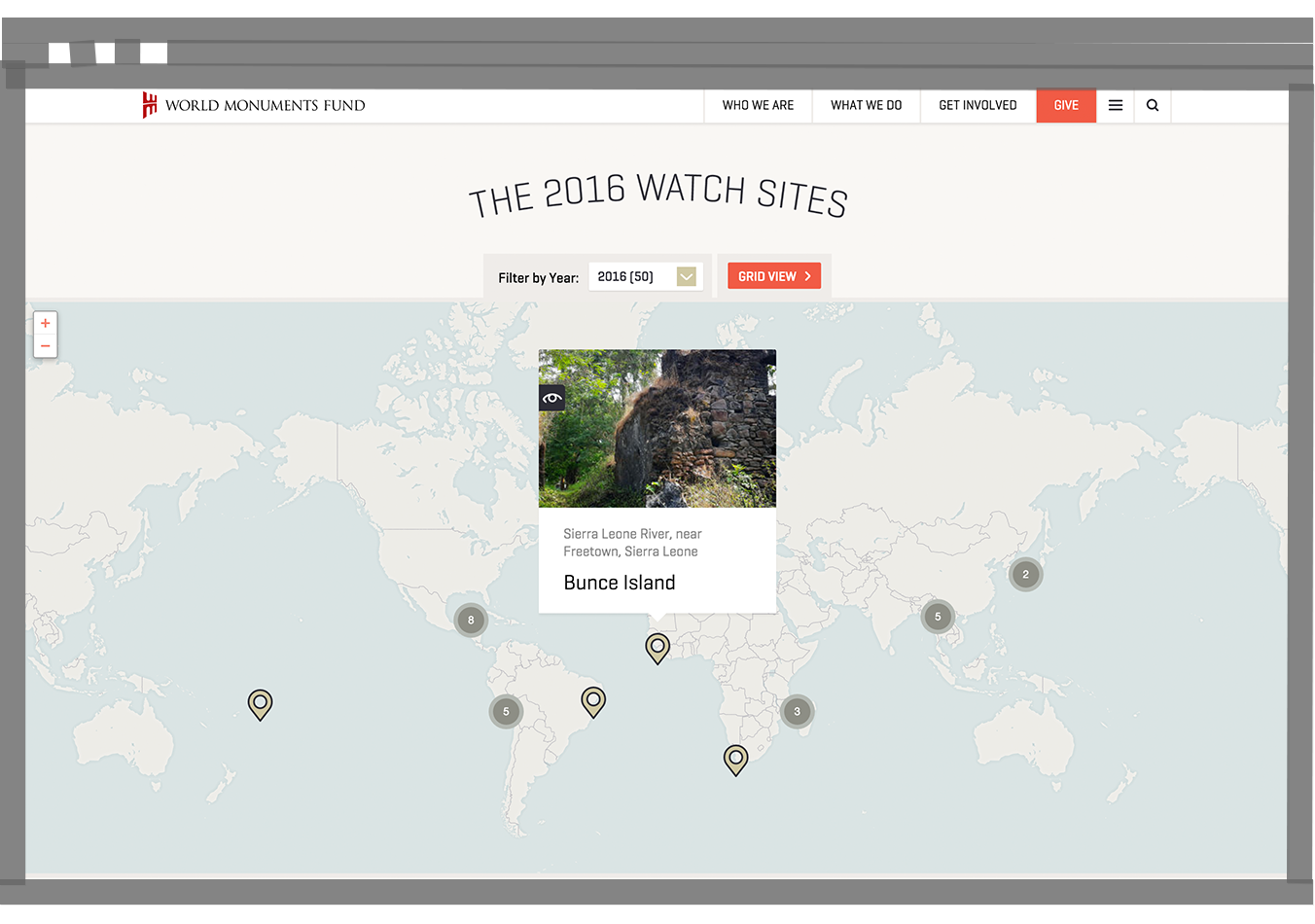WMF Watch Sites map desktop
