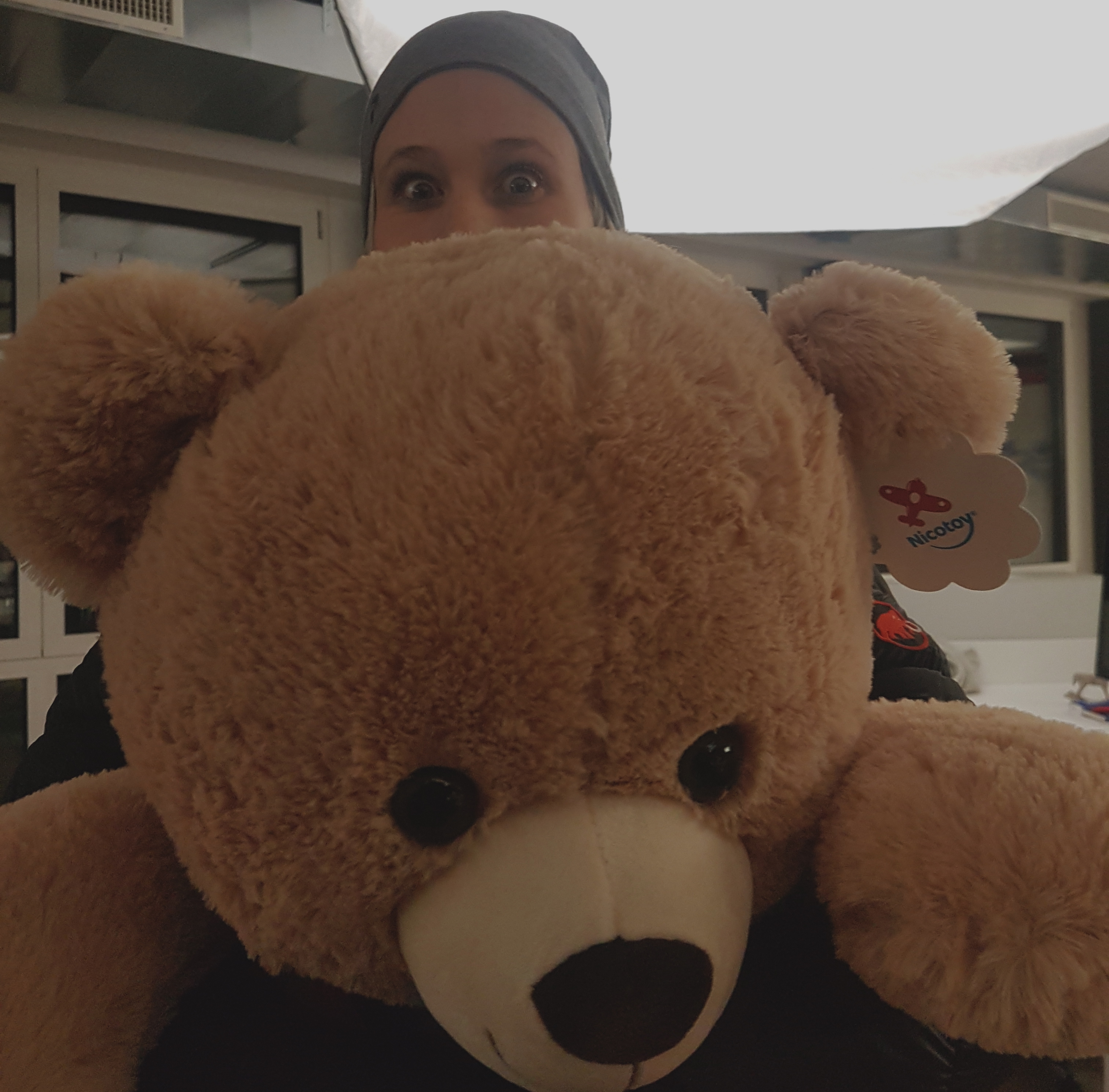 Nicole and her Teddy