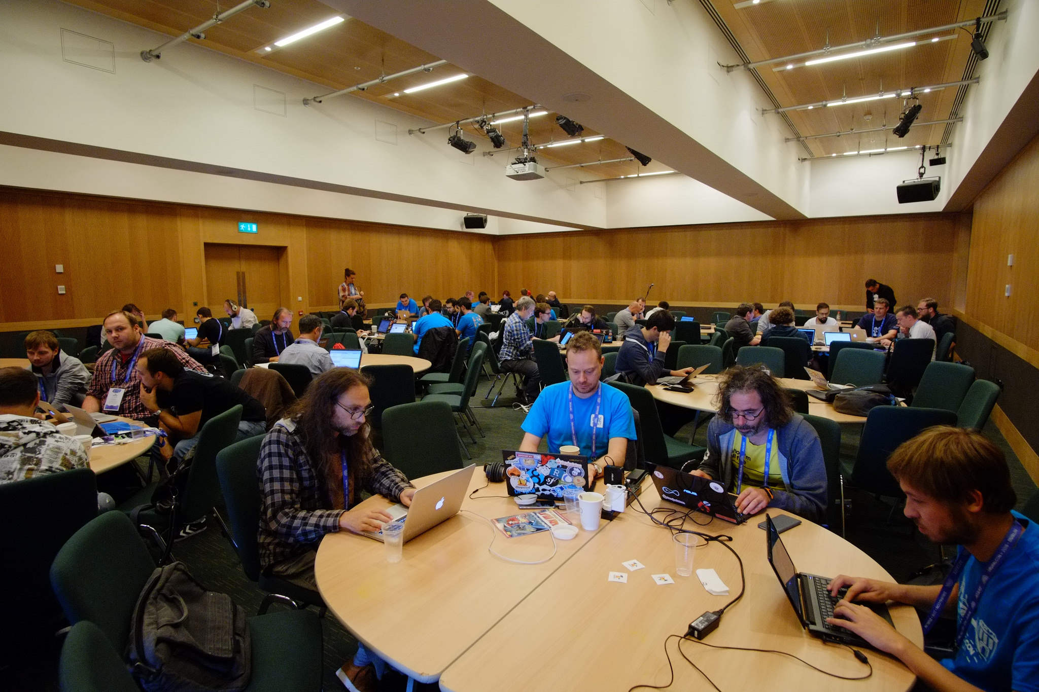 Sprinting with the Drupal community.
