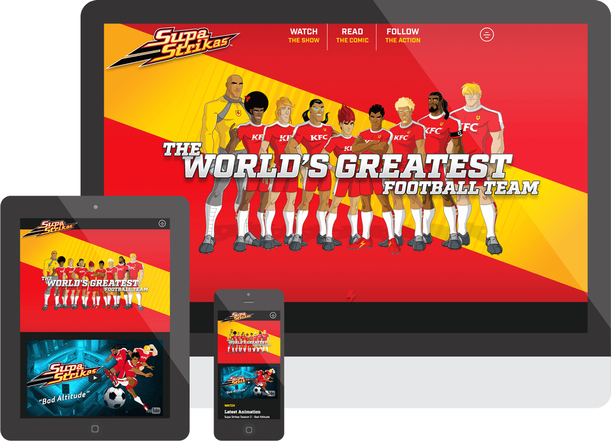 Supa Strikas Website