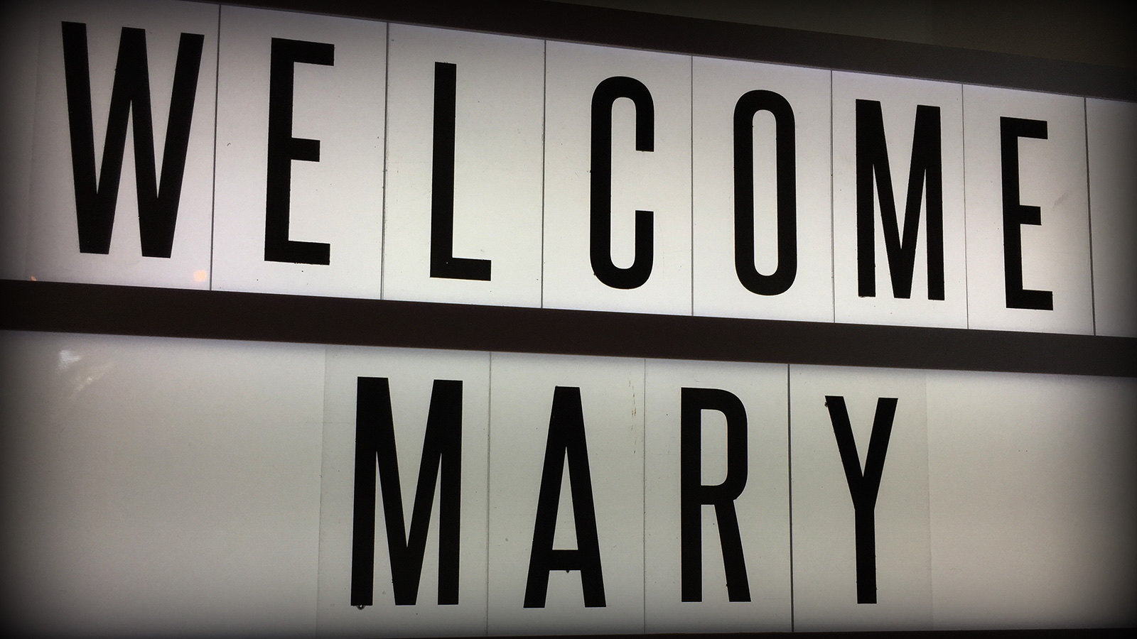 Welcome to the team, Mary!