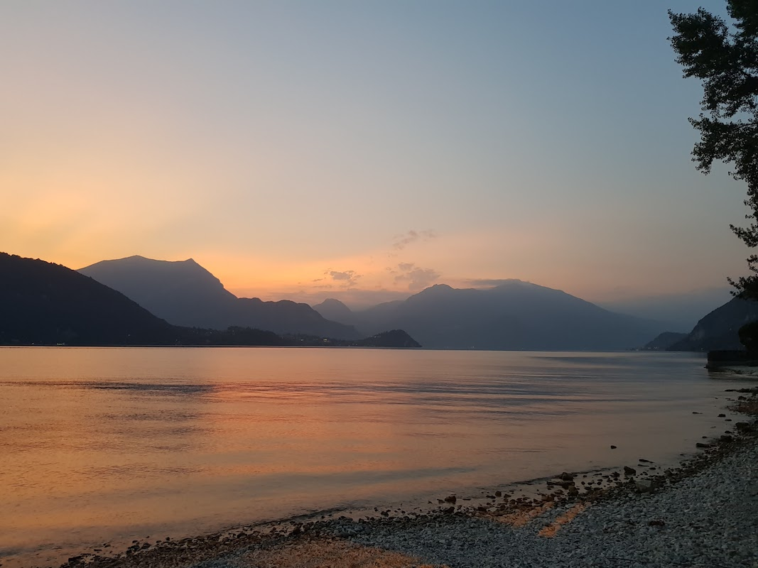 DrupAlps - Sunset at Lago di Como