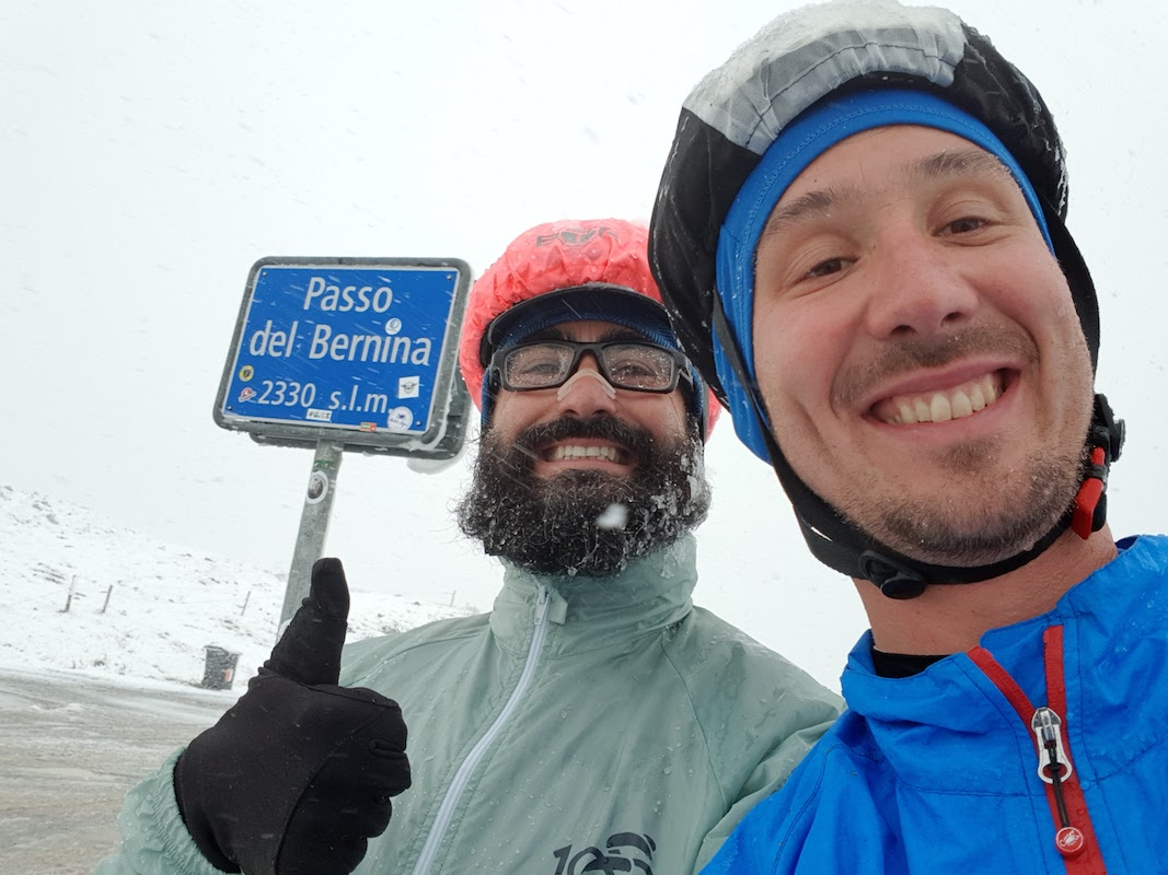 DrupAlps - Snow at Berninapass with Bessone