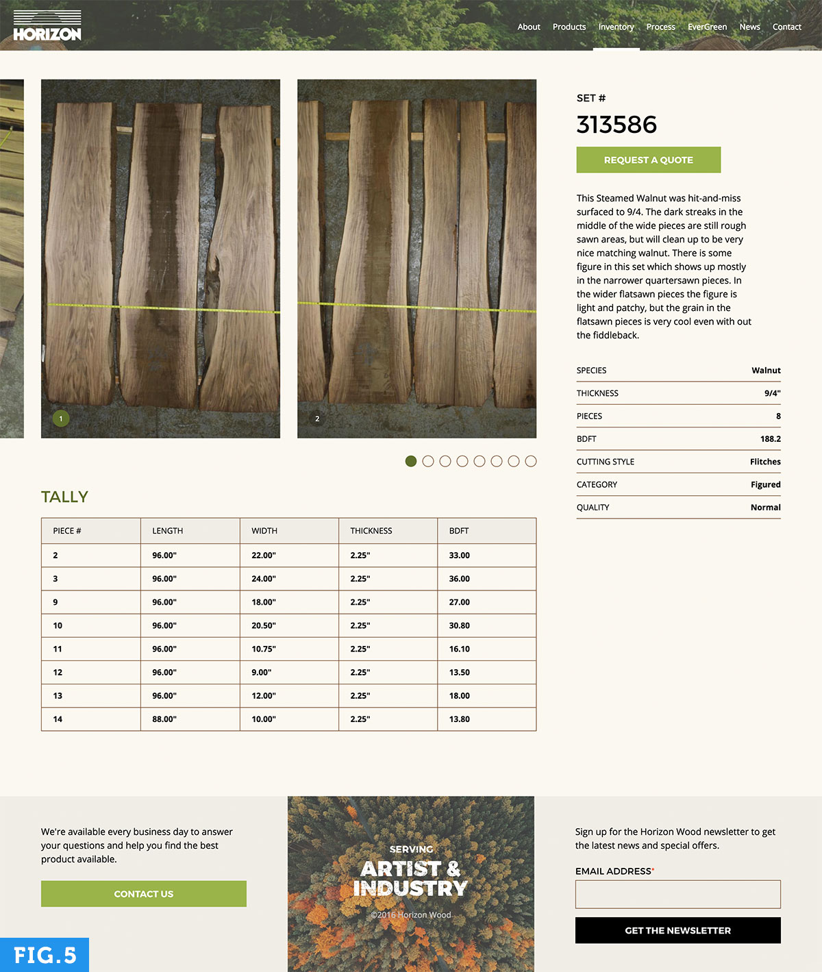 New product page design