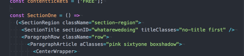 Section Title Component without title