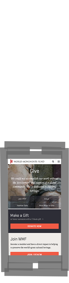 WMF Give page on smartphone