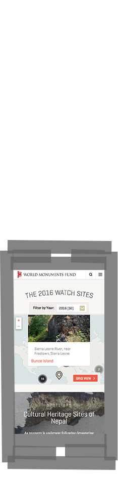 WMF Watch Sites map on smartphone