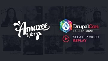 Replay of Amazee Labs DrupalCon Europe 2020 Speaker videos